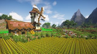 Transforming a Plains Biome | Minecraft Farm Build Timelapse [DOWNLOAD]
