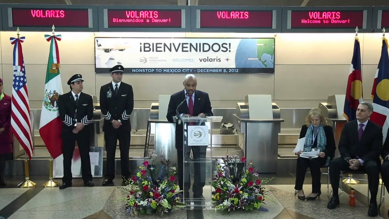 Denver Welcomes Volaris Inaugural Flight