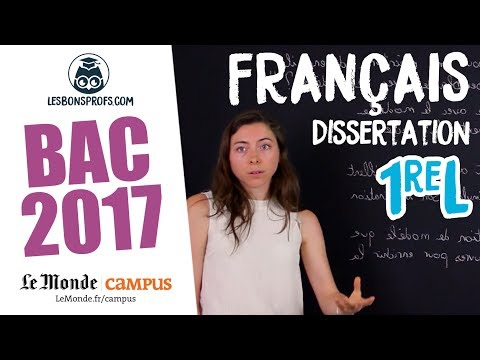 Français 1re L - Corrigé de la dissertation - Les Bons Profs