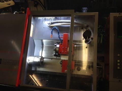 Emco Turn 120 cnc lathe turning large part -LRS