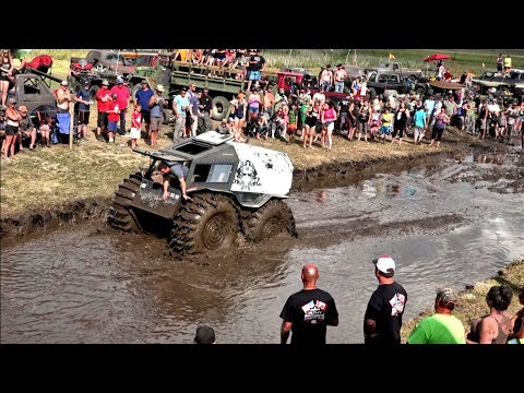 Sherp Vs. Mega Trucks Impossible Bounty Hole!!