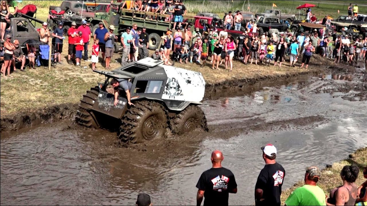 Amphibious Truck Enters Mud Bogging Contest And Blows Competition Out Of The Water