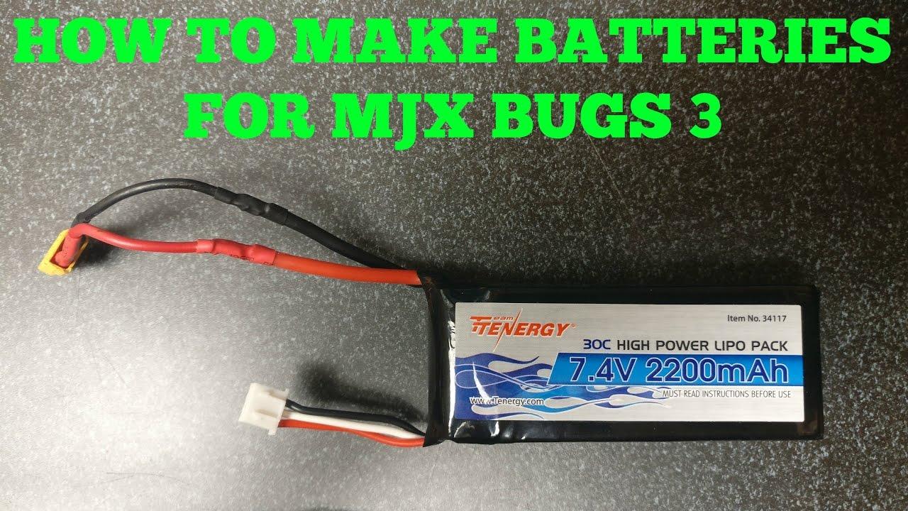 Mjx Bugs 3 Battery modification - YouTube
