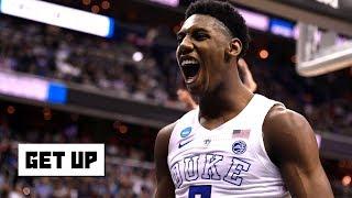 Drafting RJ Barrett is the Knicks' focus despite Darius Garland workout - Woj | Get Up