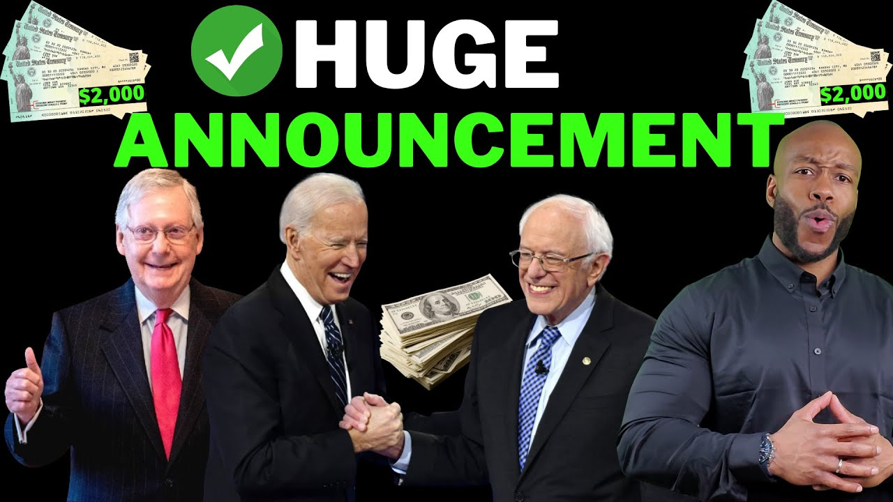 BREAKING!! Second Stimulus Check Update [$2000 Cash Act] + Unemployment