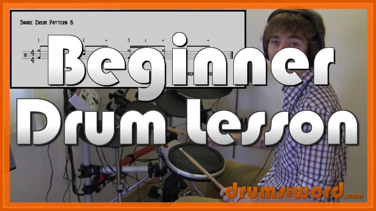 snare drum patterns part 1 beginner drum lesson learn how to play drums youtube. Black Bedroom Furniture Sets. Home Design Ideas