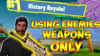USING THE ENEMIES WEAPONS TO WIN - Fortnite Battle Royale Gameplay! #LOOTFORME + GIFTCARD GIVEAWAY