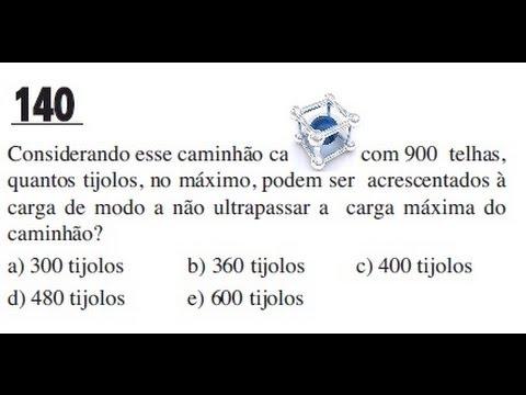 ENEM 2013/2014 QUESTÃO COMENTADA E RESOLVIDA 140  (PROVA CINZA 2° DIA)