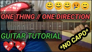 Download One Thing (ONE DIRECTION) - Guitar Tutorial | Basic Chords