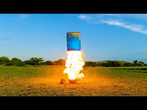 Testing NASA Rocket Fuel - असली रॉकेट ईधन ने मचाया धमाल