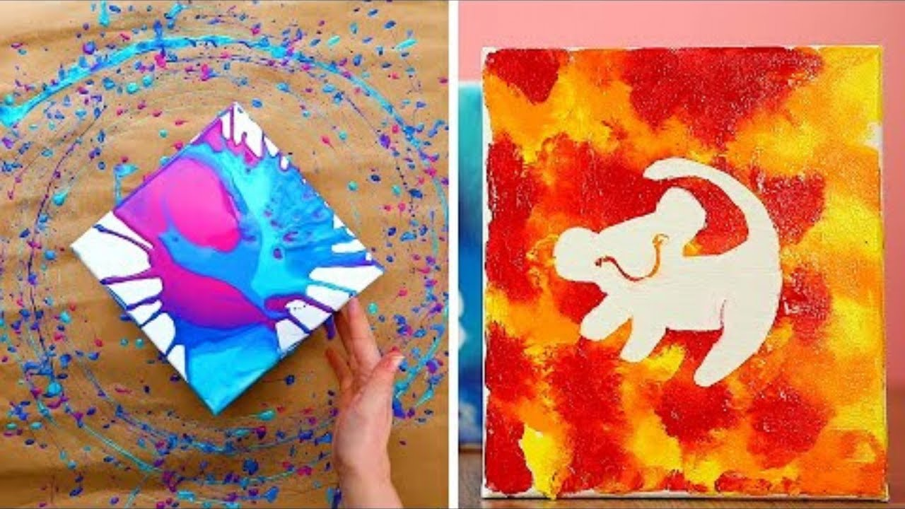 12 Diy Paint Hacks And Easy Art Projects Youtube