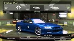 Car Castomization - NFS Underground 2 HD : Nissan Skyline R34 Customization