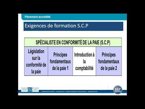 Webinaire sur la séance d'information sur le S.C.P