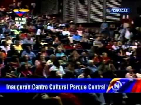 Ministro Pedro Calzadilla en inauguración de cine y centro cultural en Parque Central