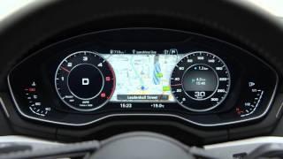 Новый Audi A4: виртуальная приборная панель