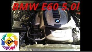 BMW 5series E60 5.0l Замена расширительного бачка   антифриза antifreeze expansion tank