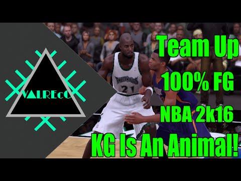 Kevin Garnett Is An Animal (100% Field Goal Percentage)   NBA 2k16 AllStar Team Up