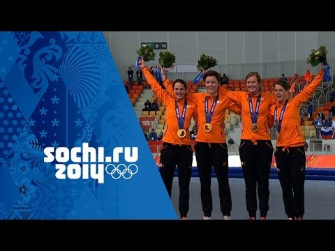 Speed Skating - Ladies' Team Pursuit - Netherlands Win Gold | Sochi 2014 Winter Olympics