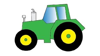 How to Draw a Tractor Easy step by step / Как нарисовать трактор