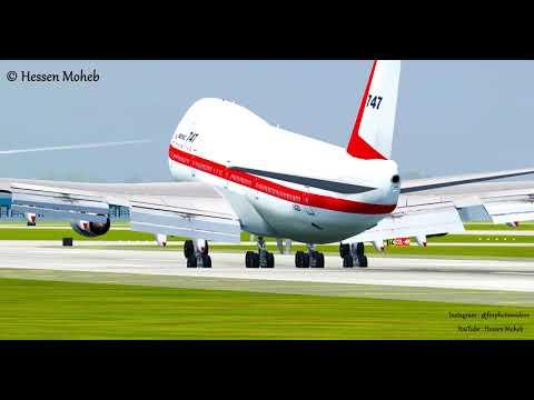 Boeing 747 Landing At Chicago