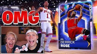MY MOM PULLED 99 GALAXY OPAL DERRICK ROSE OMG - NBA 2K19