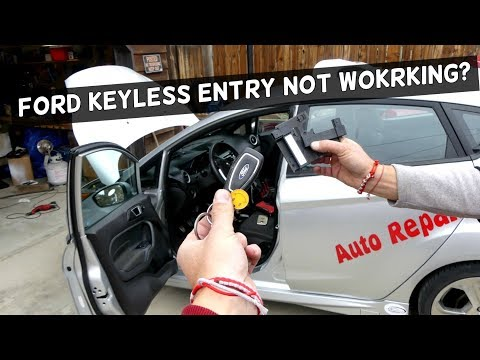 FORD KEYLESS ENTRY NOT WORKING ANTENNA RECEIVER LOCATION DEMONSTRATED ON FIESTA ST
