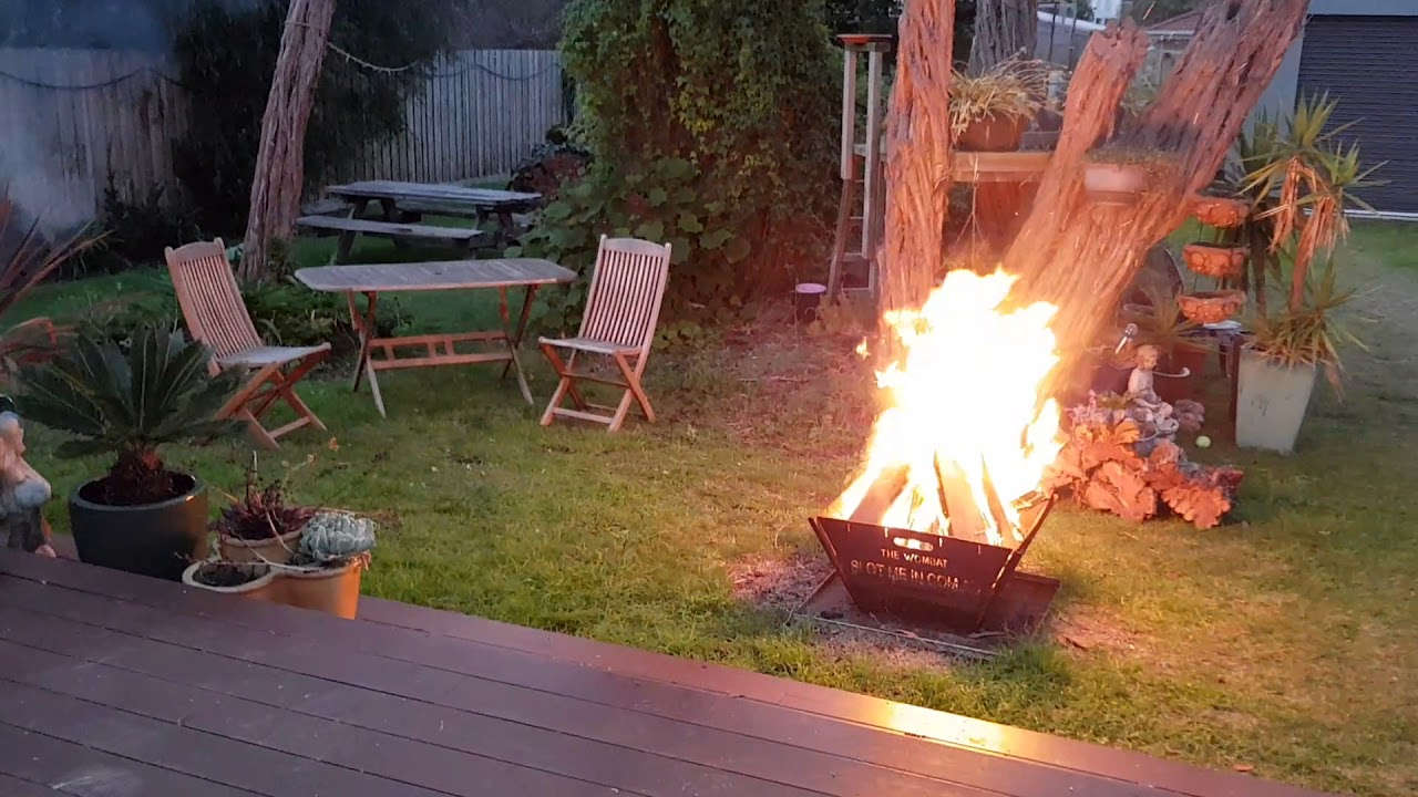 all 3 at once aussie volcano chiminea with wombat u0026 wedge fire