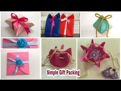 6 Best Gift Wrapping Ideas | DIY | Simple Gift Packing At Home | Gift Packing Ideas