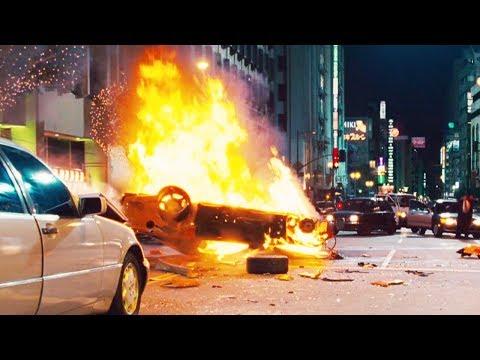 FAST and FURIOUS: TOKYO DRIFT  City Chase  Han Dies RX7 & EvoX vs 350Z & 350Z #1080HD