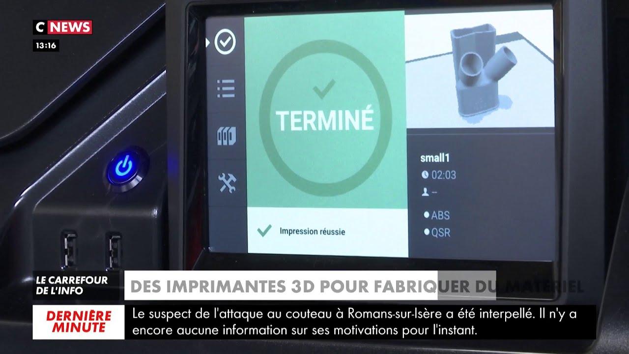 Coronavirus : quand l'impression 3D vient au secours des hôpitaux