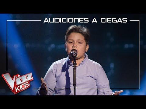 Juan Manuel Segovia canta 'Pena penita pena' | Audiciones a ciegas | La Voz Kids Antena 3 2019