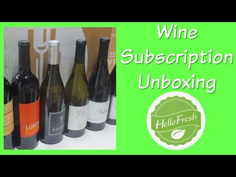 Hello Fresh Wine Subscription Unboxing!