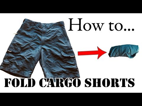 Army Packing Hack: How to Roll Cargo Shorts for Travel - Space Saving - Camping, Vacation, Carry-On