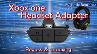 xbox one headset adapter setup unboxing w the turtle beach x12