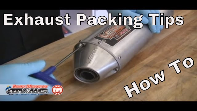 How To Repack A Motorcycle/ATV Silencer | Exhaust Packing ...