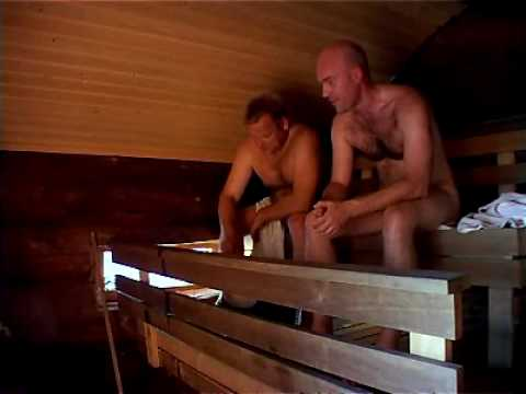 Hot Finland - Naked men in sauna