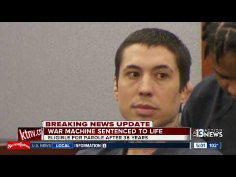 War Machine sentenced to life in prison with parole after 36 years