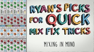 Mixing in Mono - Save Your Stereo Mix!