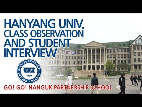 Hanyang Uni. Korean Class Observation & Campus Tour - Go! Go