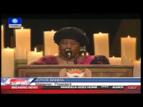 Joyce Banda Calls Mandela a Great Reformer