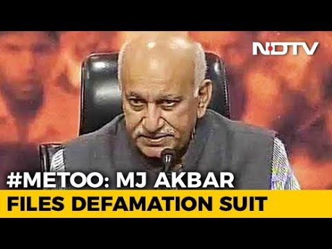 Minister MJ Akbar Sues Journalist For Defamation Over #MeToo Allegations