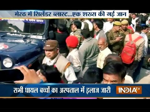 Hydrogen cylinder blasts in Meerut, 1 dead and 3 injured