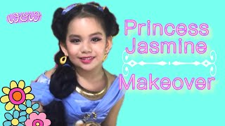 Jasmine Makeover | Princess Jasmine pretend play | Princess Makeup and dress-up | Magic Carpet Ride