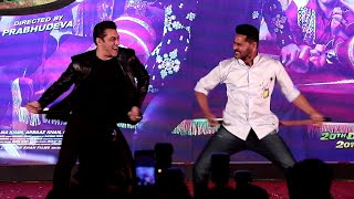 EPIC MOMENT Salman Khan & Prabhu Deva Dance Together @ Munna Badnaam Hua