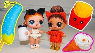 Куклы ЛОЛ Сюрприз Антистресс СКВИШИ Игрушки для детей Распаковка Видео для детей