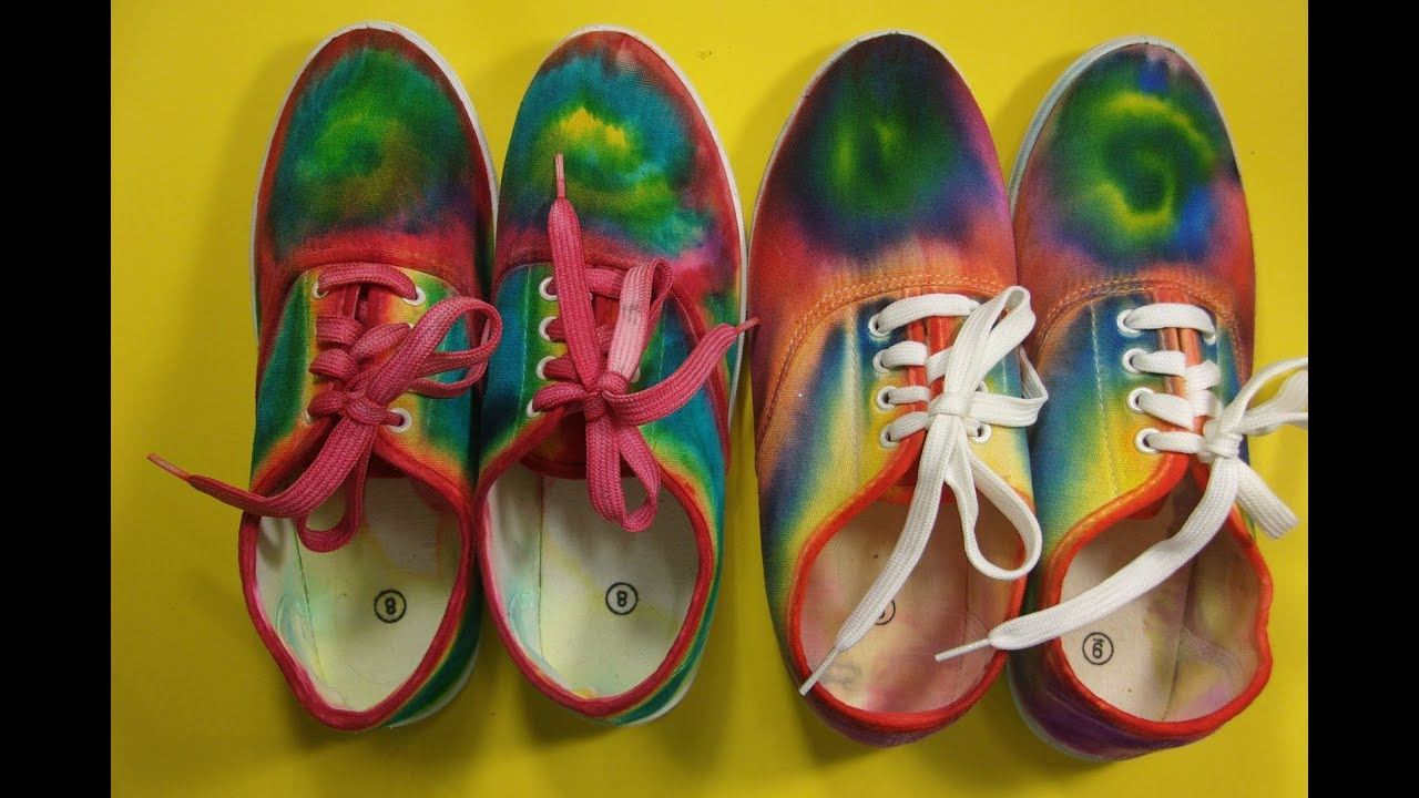 45516e4b79d8 How to make Tie Dye Sneakers with Sharpies