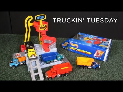 Truckin' Tuesday Cement Loading Dock with Peterbilt Dump Truck by Hot Wheels