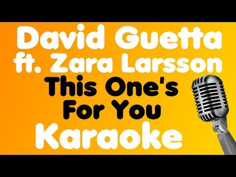 David Guetta - This One's For You (feat. Zara Larsson) - Karaoke