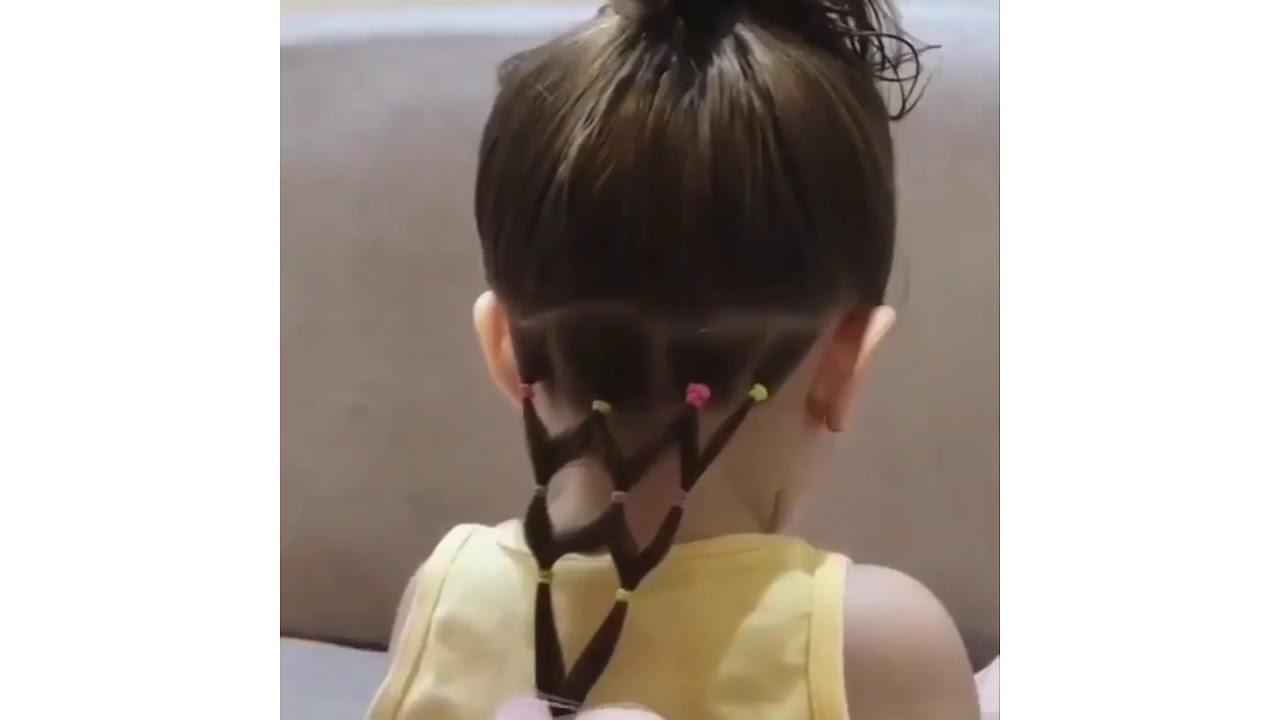 Tuto coiffure chignon pour petite fille #pretty#hairbun#enfant#allocoiffeur - YouTube