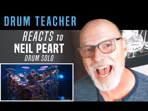 Drum Teacher Reacts to Neil Peart - Drum Solo